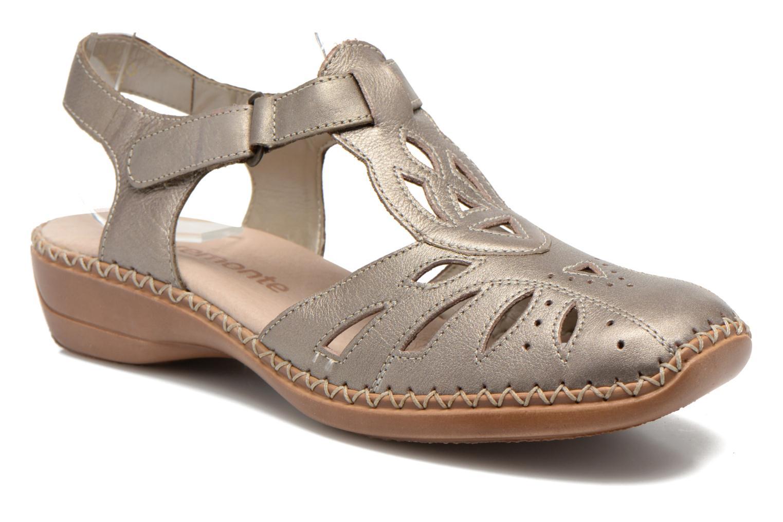 Sandales et nu-pieds Remonte Doris d1603 Or et bronze vue détail/paire