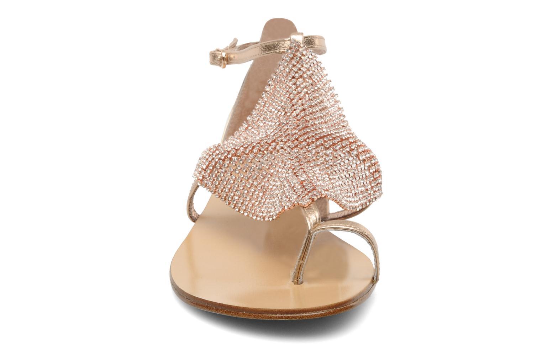 Sandales et nu-pieds Lola Cruz Balie Or et bronze vue portées chaussures