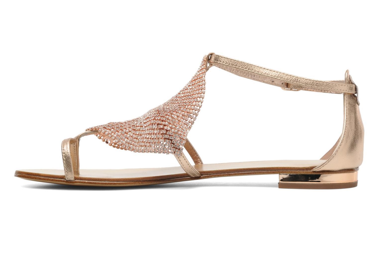 Sandales et nu-pieds Lola Cruz Balie Or et bronze vue face