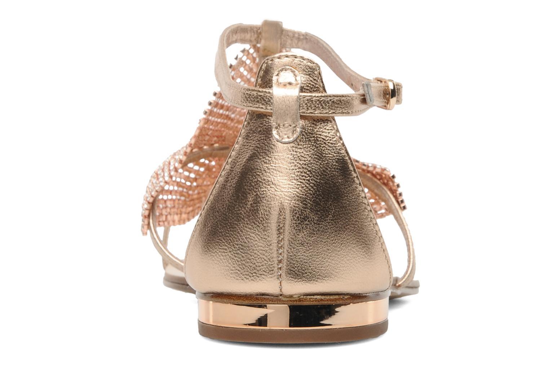Sandales et nu-pieds Lola Cruz Balie Or et bronze vue droite