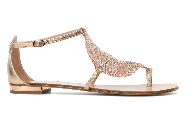 Sandales et nu-pieds Lola Cruz Balie Or et bronze vue derrière