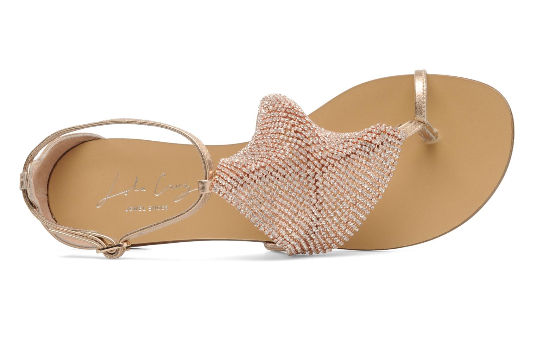 Sandales et nu-pieds Lola Cruz Balie Or et bronze vue gauche