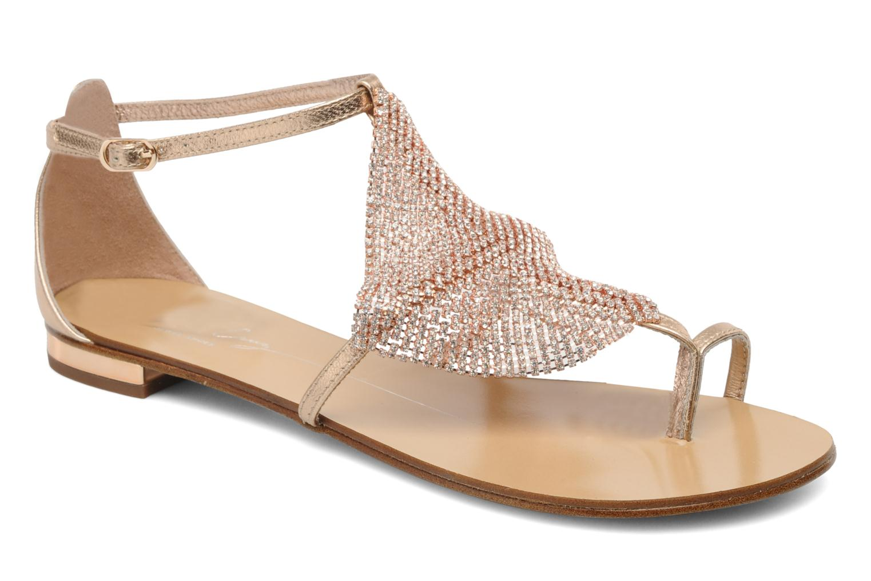 Sandales et nu-pieds Lola Cruz Balie Or et bronze vue détail/paire