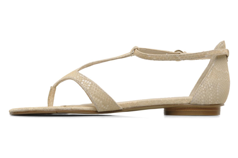 Sandales et nu-pieds Nine West Couldbeluv Beige vue face