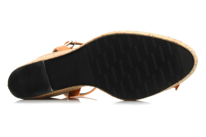 Sandales et nu-pieds Sebago & Gaspard Yurkievich Ydriss Orange vue haut