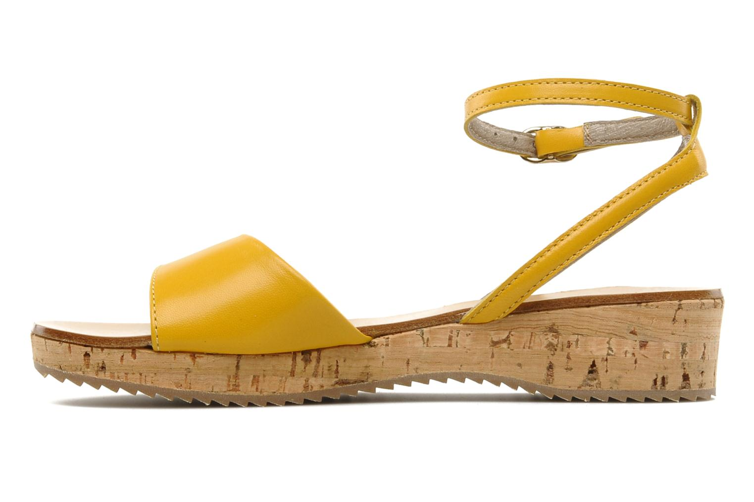 Sandals C'Entre Maman & Moi! Lucy Yellow front view