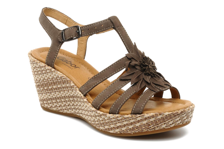Sandales et nu-pieds Gabor Diana Marron vue détail/paire