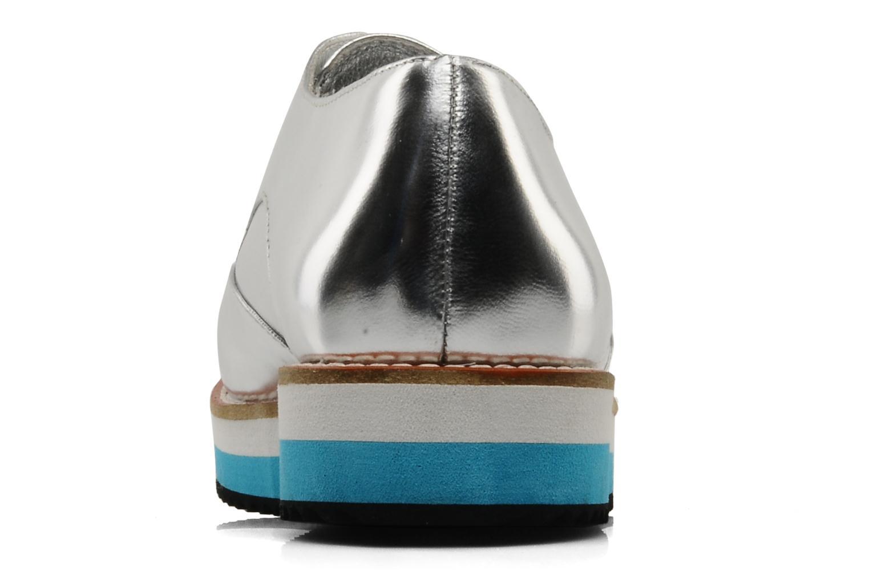 Zapatos con cordones Buffalo Disco Plateado vista lateral derecha
