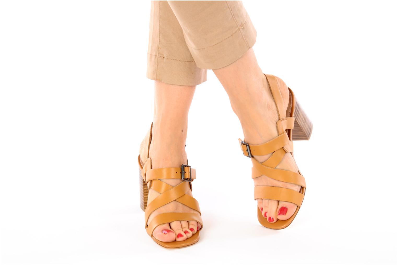 Sandalen Mellow Yellow Lamante braun ansicht von unten / tasche getragen