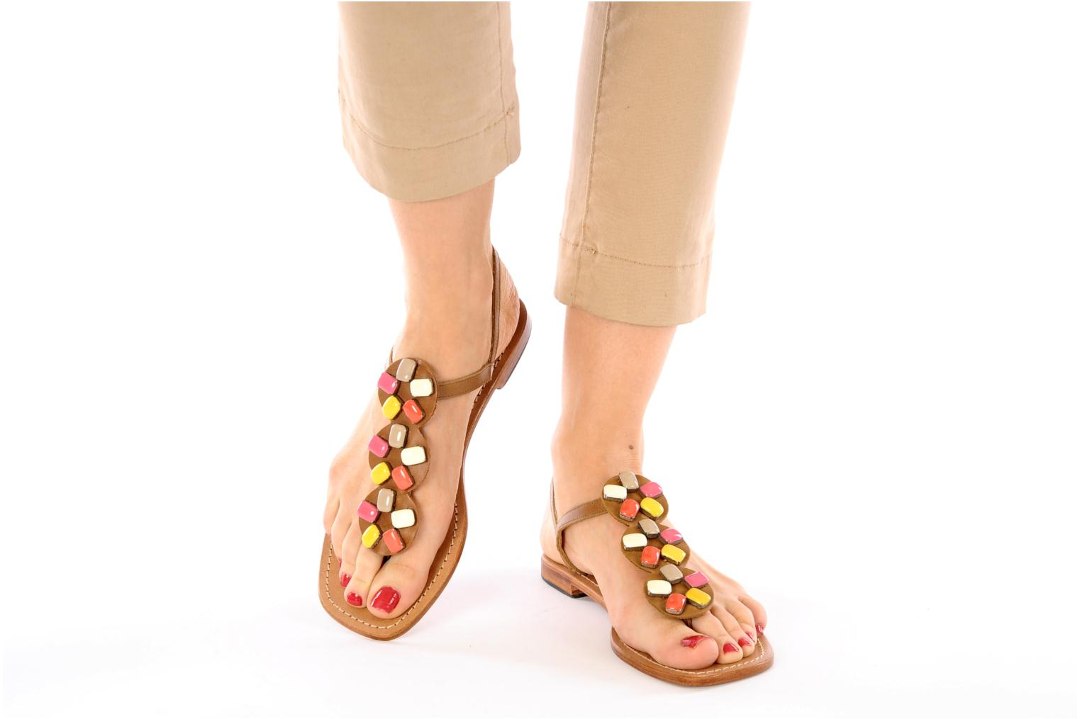 Sandals Mellow Yellow Lapi Brown view from underneath / model view