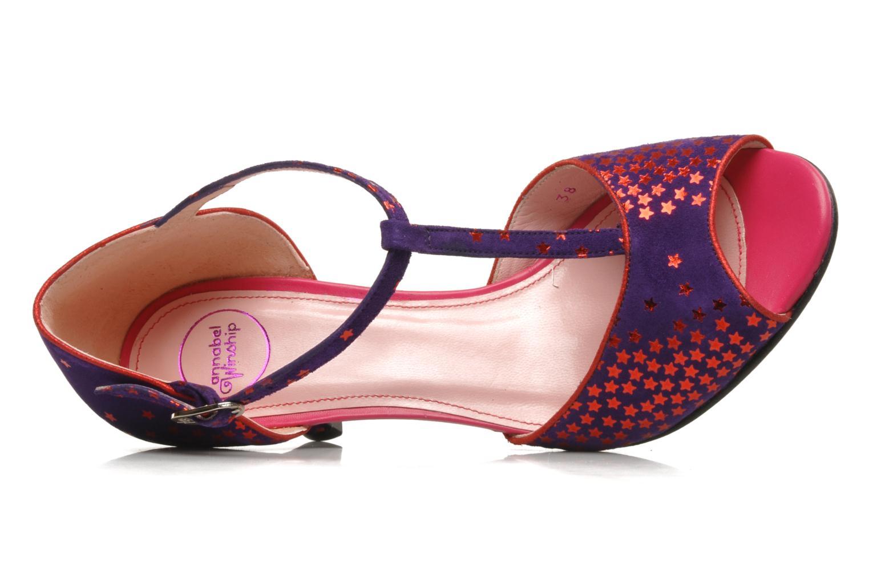 Sandales et nu-pieds Annabel Winship Hambug Violet vue gauche