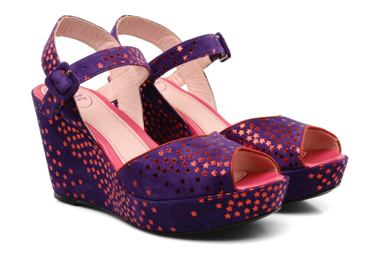 Sandals Annabel Winship Jodie Purple 3/4 view