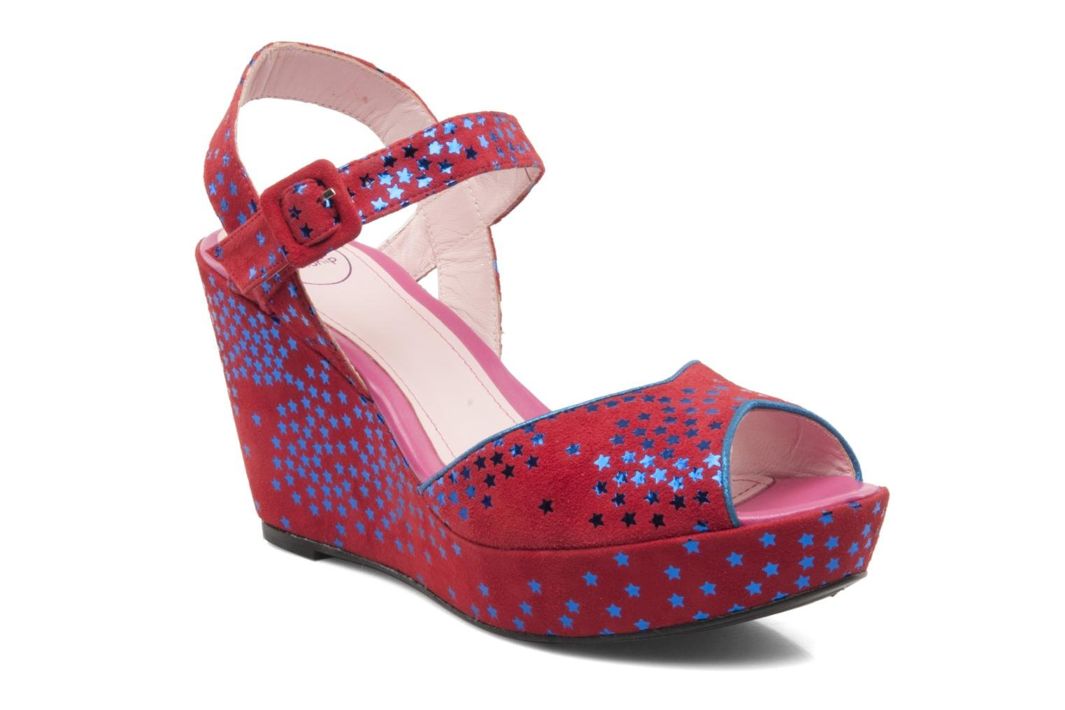 Sandals Annabel Winship Jodie Red detailed view/ Pair view