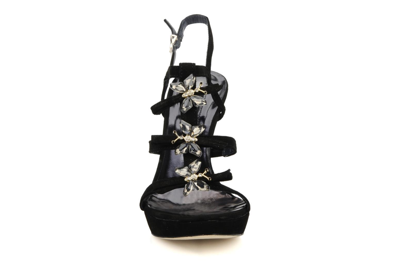 Sandales et nu-pieds Barachini Elmora Noir vue portées chaussures