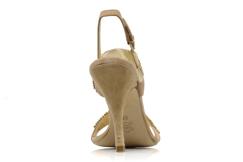 Sandales et nu-pieds Barachini Andrama Beige vue droite