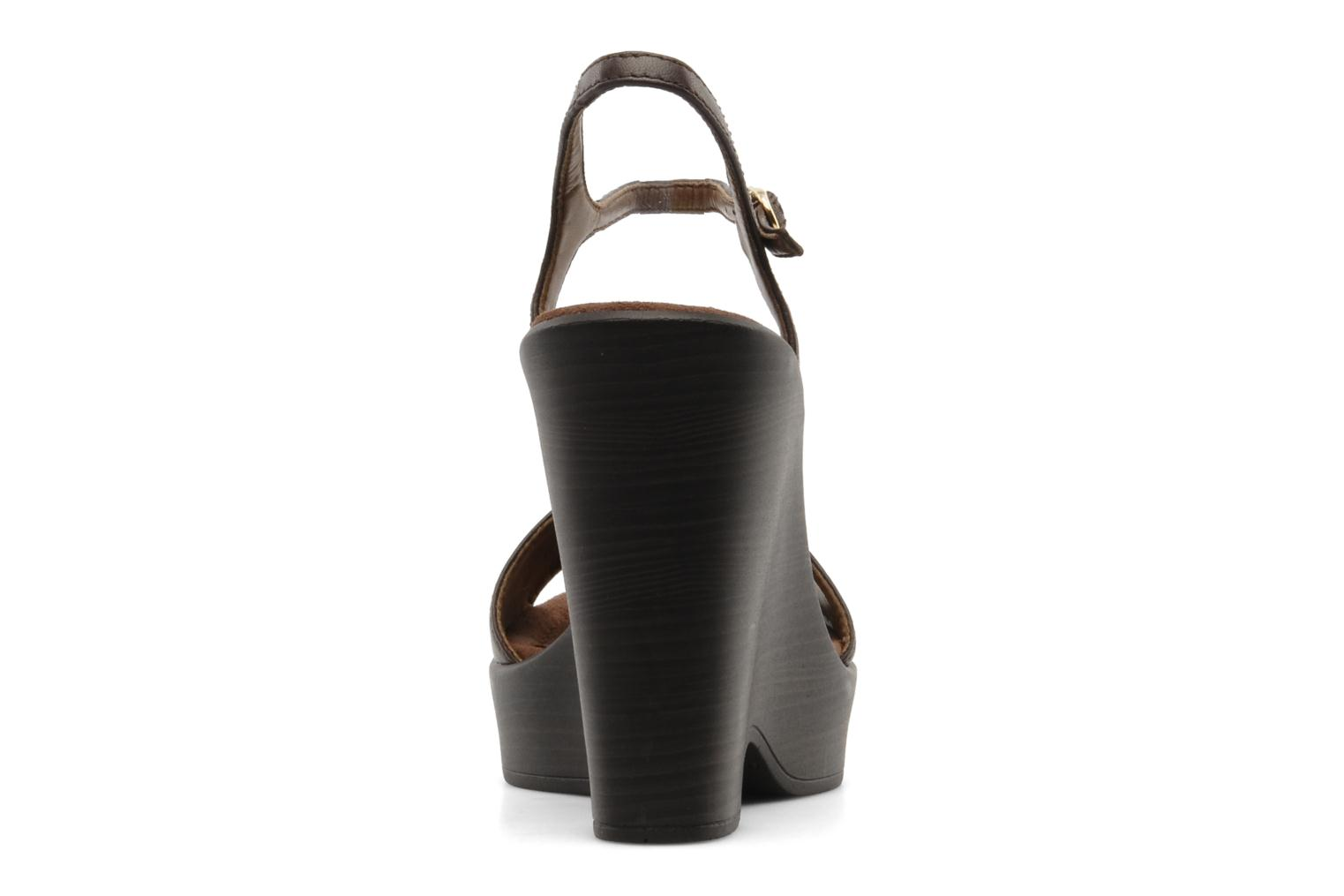 Sandals Unisa Oire Brown view from the right