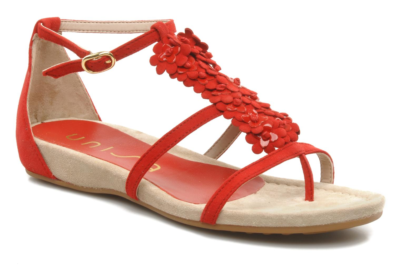 Sandals Unisa Afiles ks Red detailed view/ Pair view
