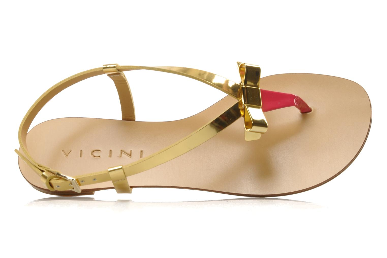 Sandales et nu-pieds Vicini Vada Or et bronze vue gauche