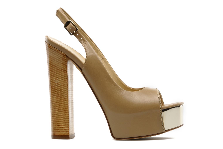 Sandales et nu-pieds Vicini Vinciane Marron vue derrière