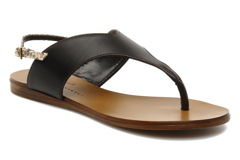 Sandales et nu-pieds Tapeet Tefle Marron vue détail/paire