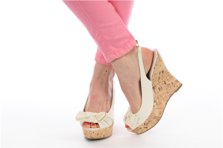 Sandalen Latinas Lignee beige ansicht von unten / tasche getragen