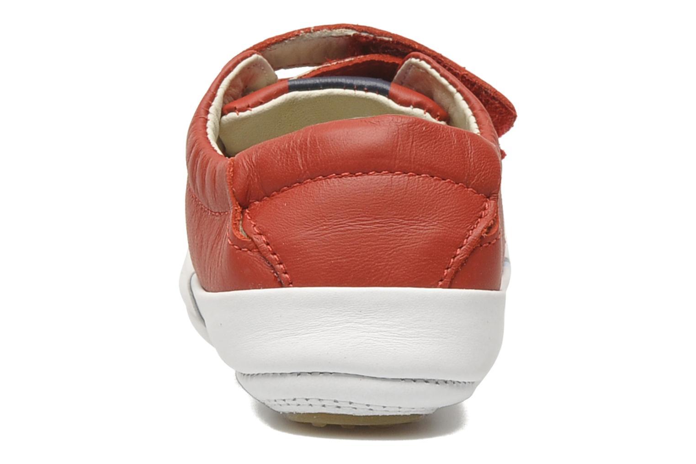 Sneakers Tip Toey Joey New Flashy Röd Bild från höger sidan