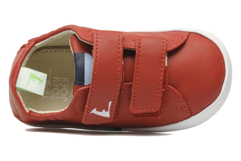 Sneaker Tip Toey Joey New Flashy rot ansicht von links