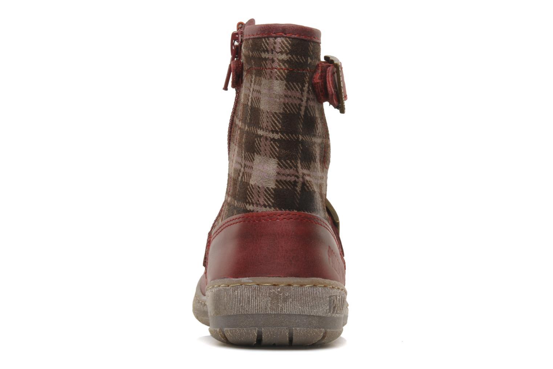 Bottines et boots Palladium Botto Mix Bordeaux vue droite