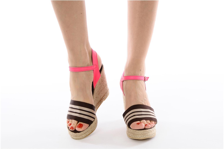 Sandales et nu-pieds Pare Gabia Ossia Marron vue bas / vue portée sac