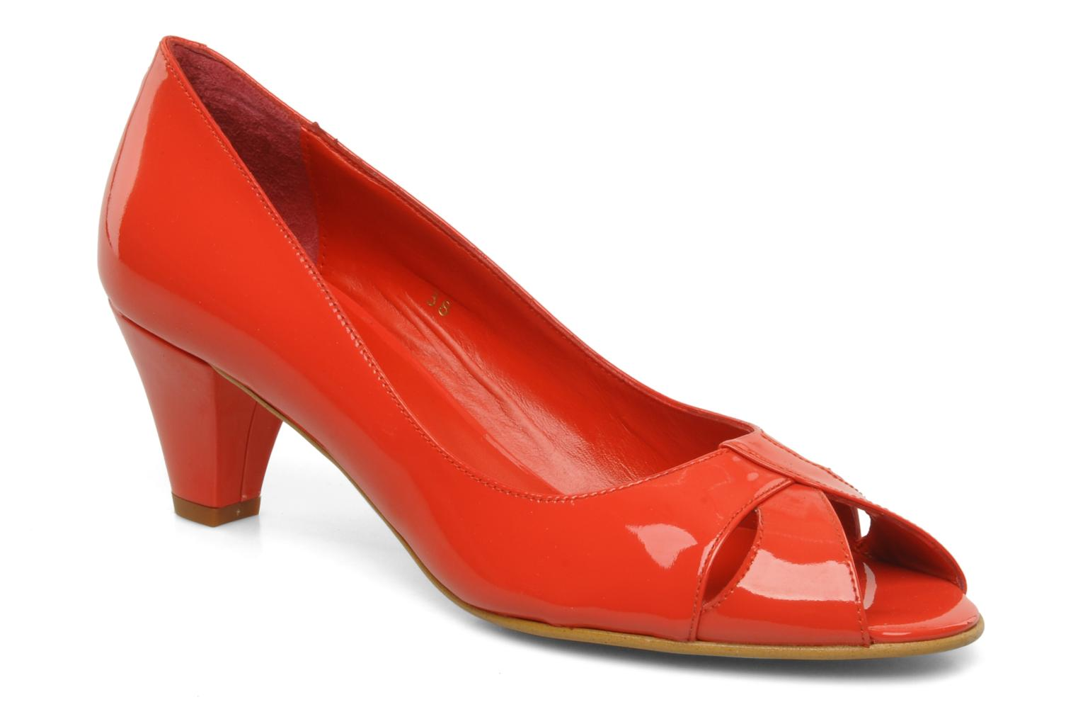 High heels Georgia Rose Magui Red detailed view/ Pair view