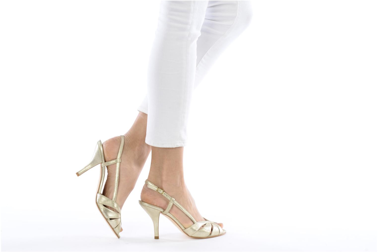 Sandals Georgia Rose Maraki Bronze and Gold view from underneath / model view