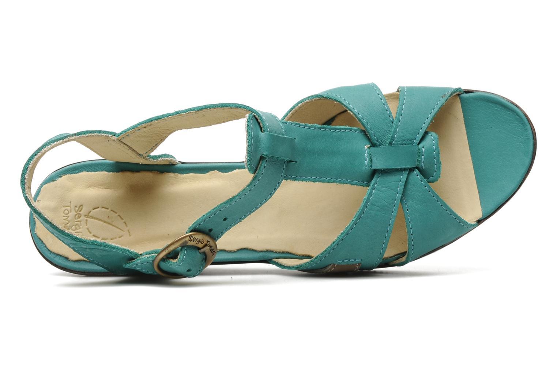 Sandales et nu-pieds Sergio Tomani Mula 3903 Bleu vue gauche
