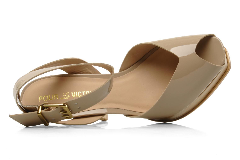 Sandales et nu-pieds Pour La Victoire Taryn Beige vue gauche