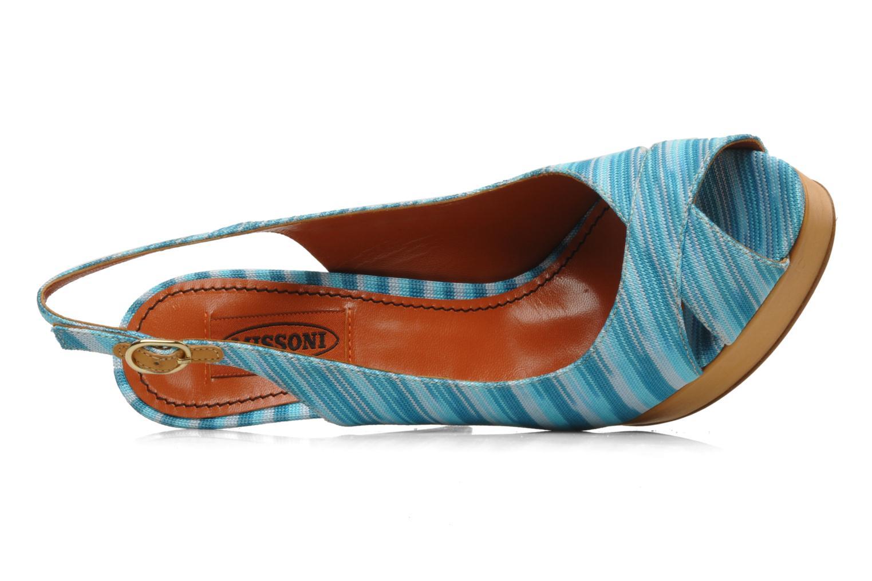 Sandales et nu-pieds Missoni Miranie Multicolore vue gauche