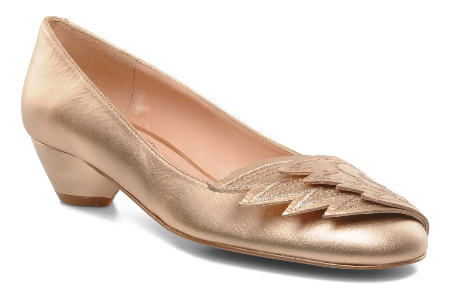 EDITH LOW POWDER PEACH METALLIC LEATHER