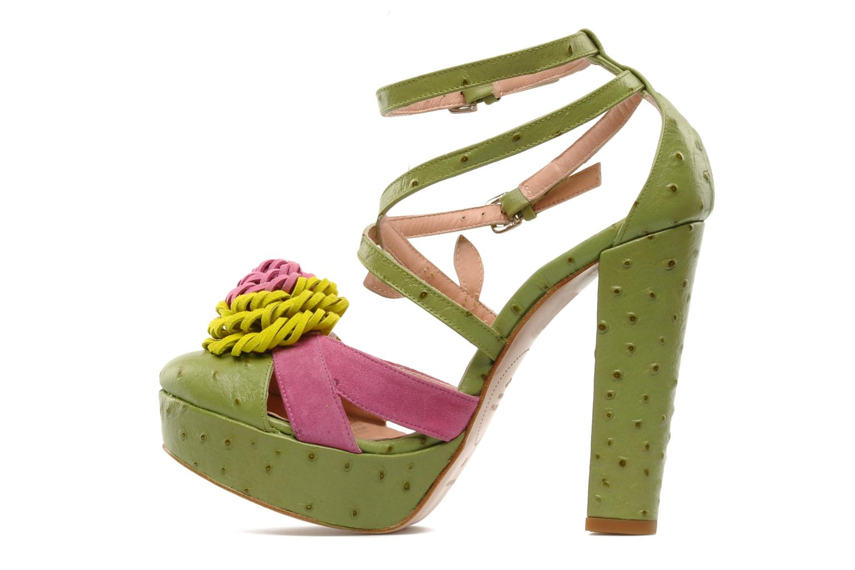 Sandales et nu-pieds Minna Parikka POMPOM SANDAL Vert vue face