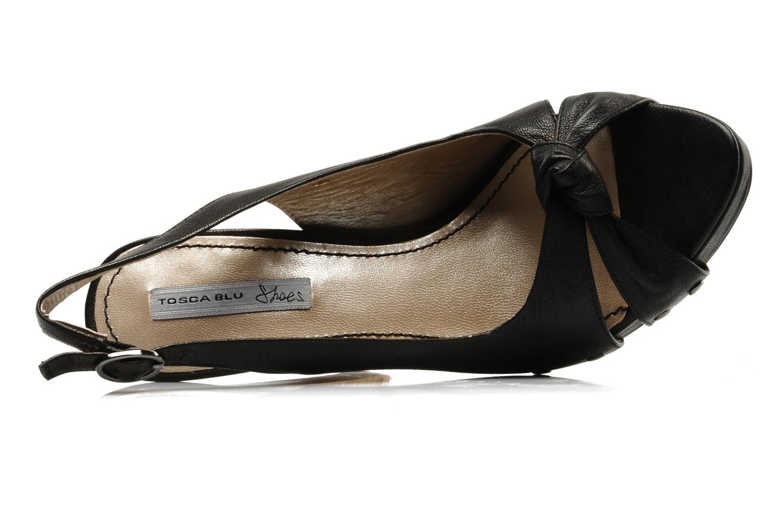 Sandalen Tosca Blu Shoes Ninfea schwarz ansicht von links