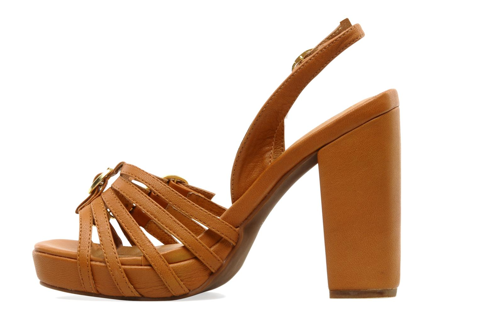 Sandals Jeffrey Campbell Fun Brown front view