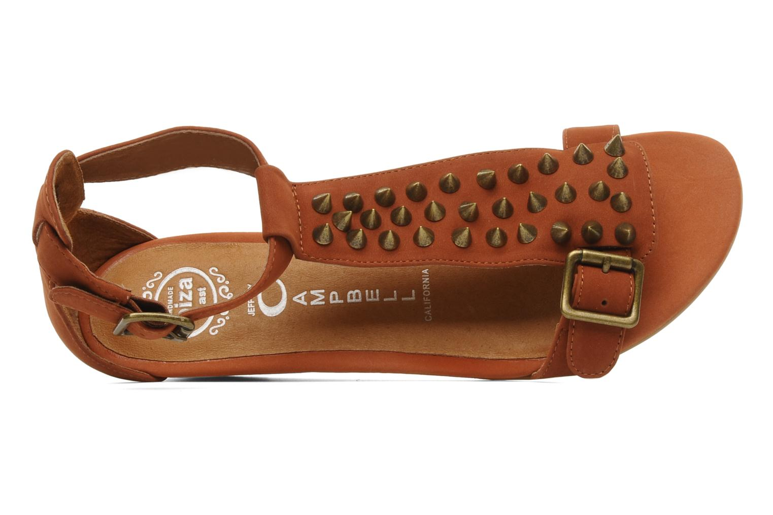 Sandals Jeffrey Campbell Barbary Spike Brown view from the left