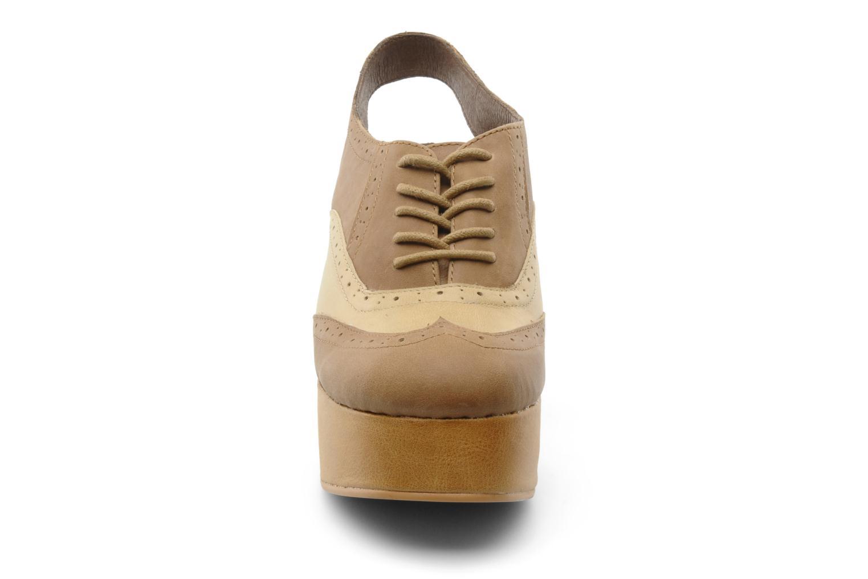 Schnürschuhe Jeffrey Campbell Ditto beige schuhe getragen