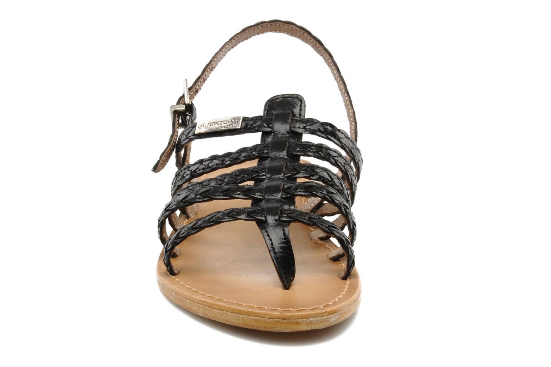 Sandales et nu-pieds Les Tropéziennes par M Belarbi Heritres Noir vue portées chaussures