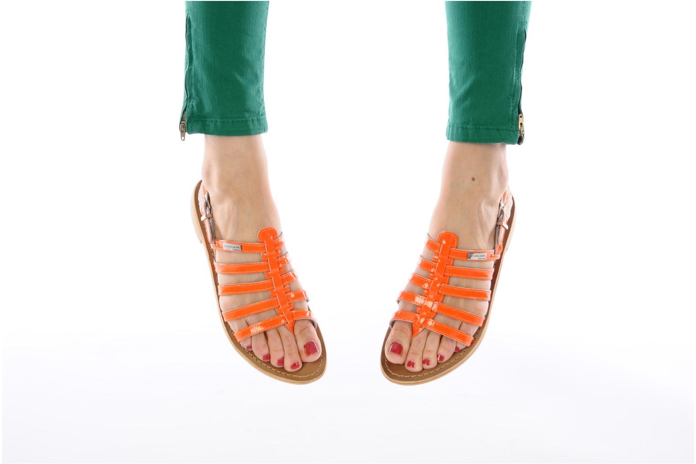 Sandales et nu-pieds Les Tropéziennes par M Belarbi Herflash Orange vue bas / vue portée sac