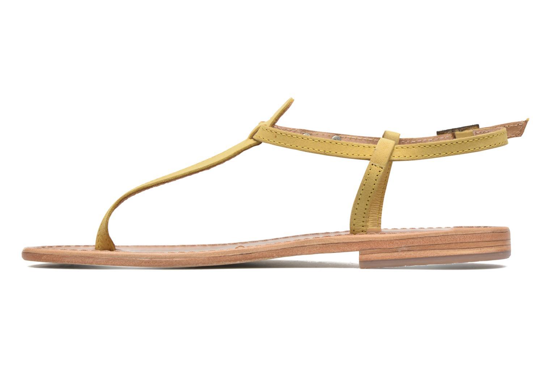 Sandalen Les Tropéziennes par M Belarbi Narbuck gelb ansicht von vorne