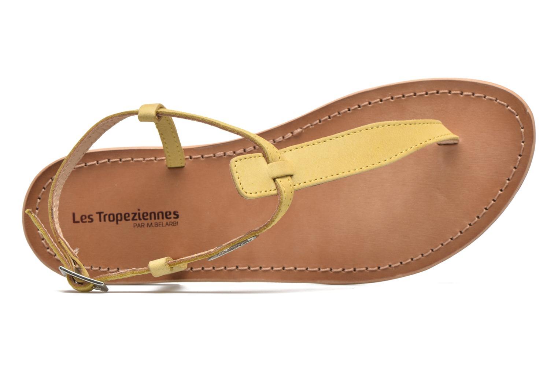 Sandalen Les Tropéziennes par M Belarbi Narbuck gelb ansicht von links