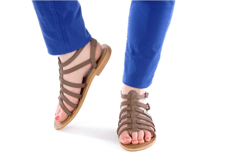 Sandales et nu-pieds Les Tropéziennes par M Belarbi Hortense Rouge vue bas / vue portée sac