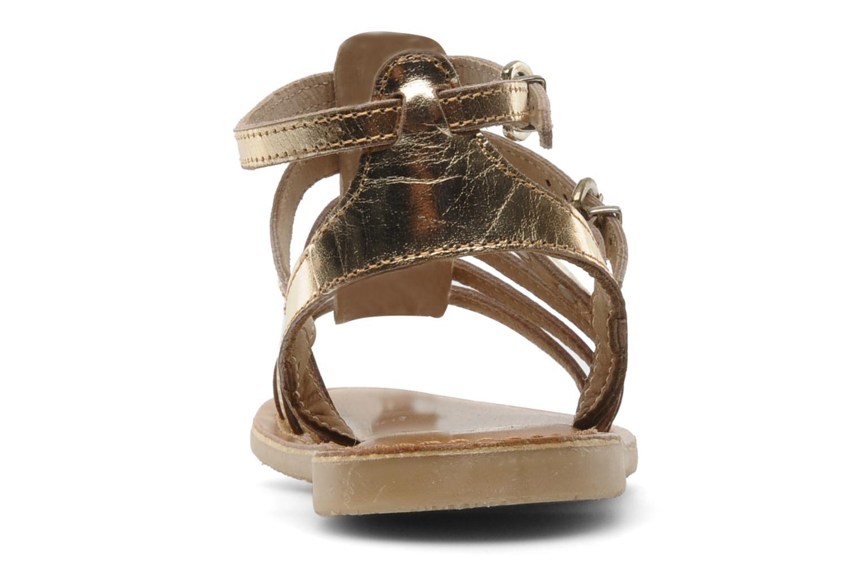 Sandales et nu-pieds Les Tropéziennes par M Belarbi Hic E Or et bronze vue droite