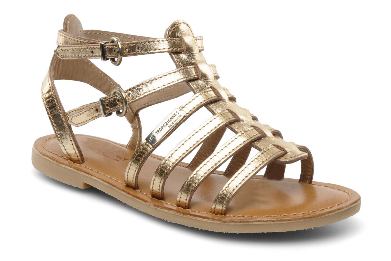 Sandales et nu-pieds Les Tropéziennes par M Belarbi Hic E Or et bronze vue détail/paire