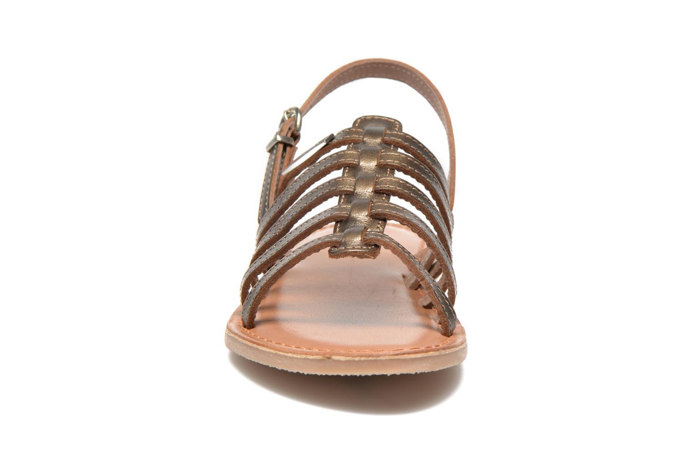 Sandalias Les Tropéziennes par M Belarbi Mangue E Oro y bronce vista del modelo