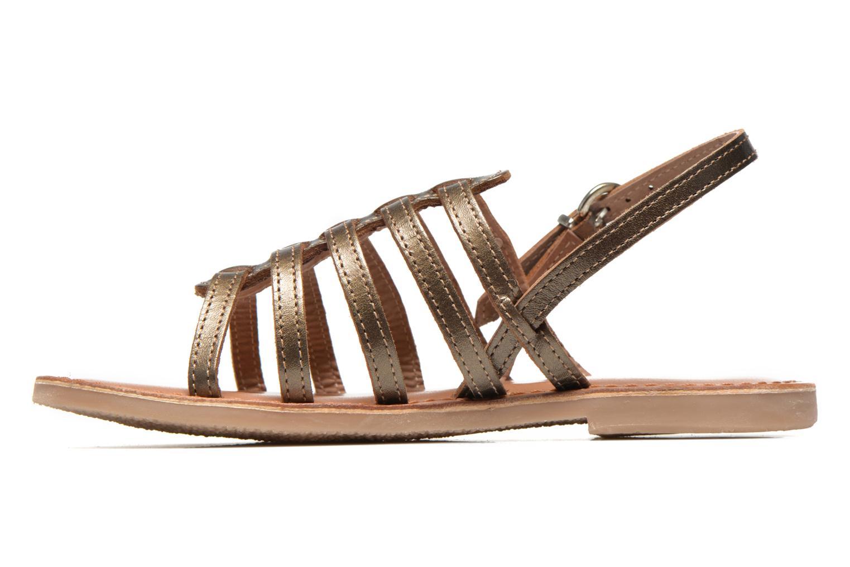 Sandales et nu-pieds Les Tropéziennes par M Belarbi Mangue E Or et bronze vue face