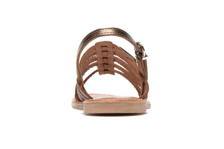 Sandalias Les Tropéziennes par M Belarbi Mangue E Oro y bronce vista lateral derecha